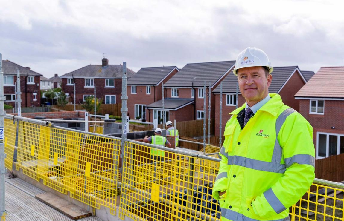 An Eccleston homes developer on site